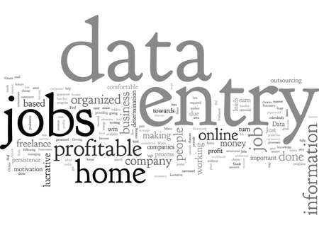 A Guide to Find Lucrative Data Entry Jobs 矢量图像