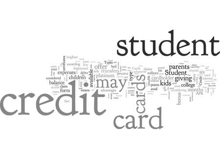 Student Credit Cards typography text art vector illustration