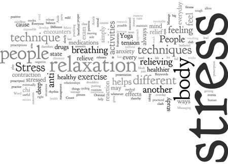 A Healthy Approach To Stress typography text art vector illustration
