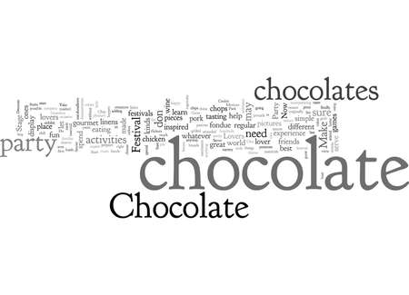 A Chocolate Lovers Party typography text art vector illustration