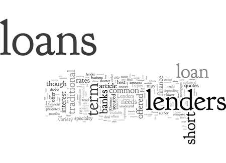 A Guide to Common Short Term Loans Illustration
