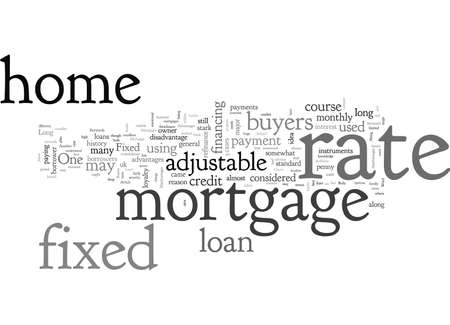 Advantages And Disadvantages Of Fixed Rate Mortgage Иллюстрация