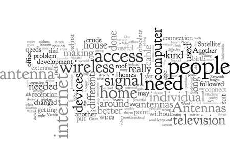 Antennas Of The New Age Stock Illustratie