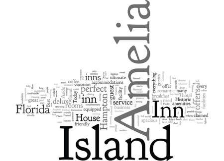 Amelia Island inn typography text art vector illustration