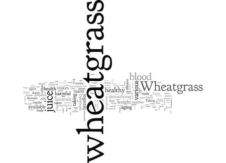 Wheatgrass typography text art vector illustration