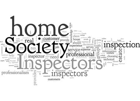 Society of Home Inspectors typography text art vector illustration Vettoriali