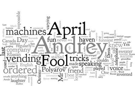 April Fool typography text art vector illustration