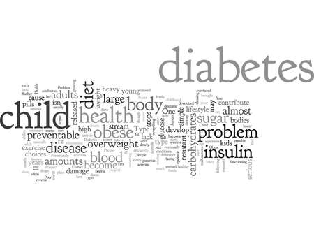 A Serious Health Problem Of Obese Child typography text art vector illustration