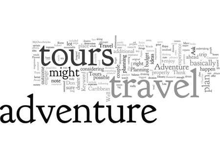 Adventure Travel Tours typography text art vector illustration