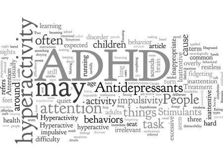ADHD typography text art vector illustration