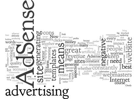 Adsense Pros and Cons typography text art vector illustration Illustration