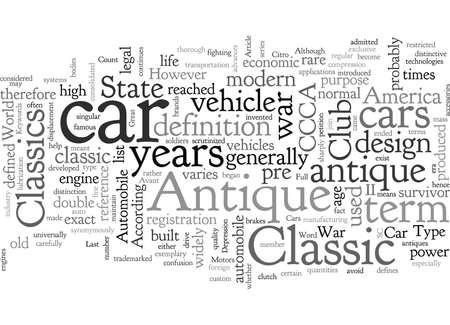Antique Classics Cars typography text art vector illustration