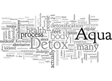 Aqua Detox typography text art vector illustration