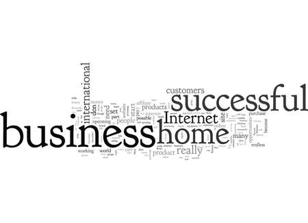 A Successful Home Business typography text art vector illustration