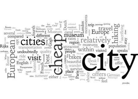 Amsterdam Cheap Travel Guide Enjoy It 向量圖像