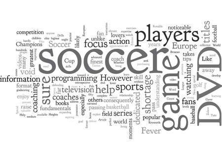 Soccer, typography text art vector illustration