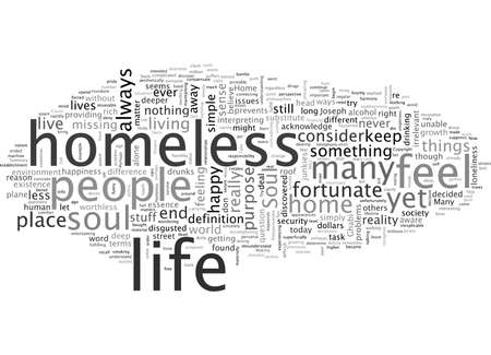 homeless, typography text art vector illustration