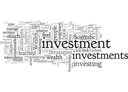 Investment, typography text art vector illustration