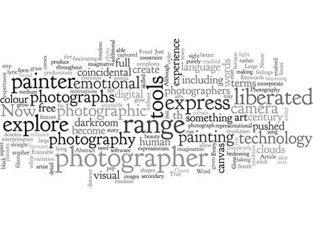 Abstract Photography typography text art vector illustration