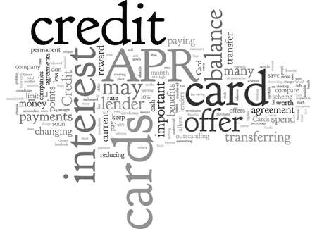 APR Credit Card Benefits, typography text art vector illustration
