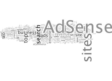 AdSense, typography text art vector illustration Vektoros illusztráció