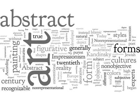 Abstract Art, typography text art vector illustration