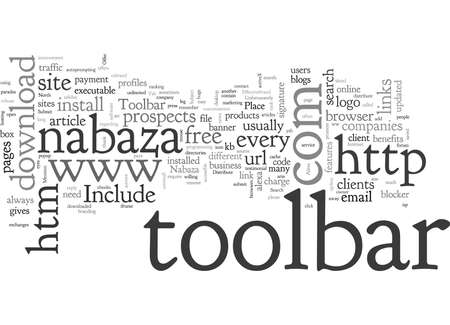 Toolbar, typography text art vector illustration