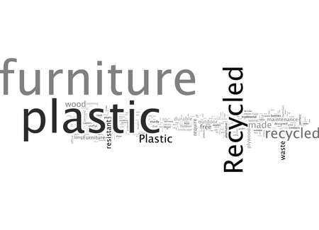 Advantages of Recycled Plastic Furniture 向量圖像