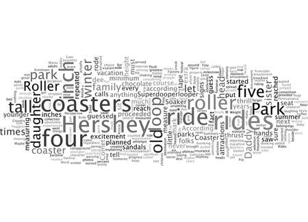 Amusement Park Roller Coaster Thrill Rides, typography text art vector illustration