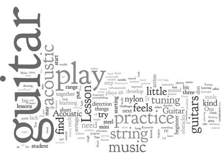 Acoustic Guitar Lessons Illustration