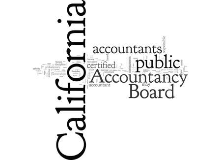 About the California Board of Accountancy Stock Illustratie