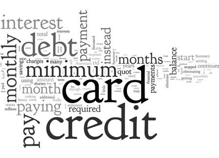 An Easy Way To Eliminate Your Credit Card Debt, typography text art vector illustration