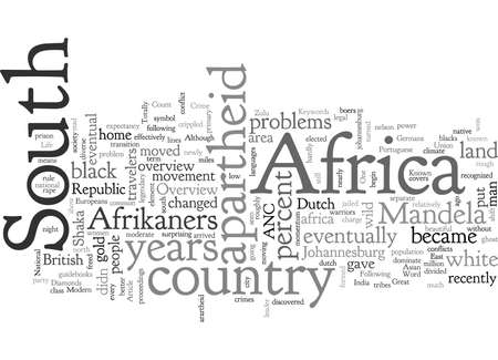 An Overview of South Africa for Travelers, typography text art vector illustration