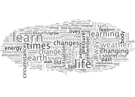Abundance And The Weather, typography text art vector illustration Illustration