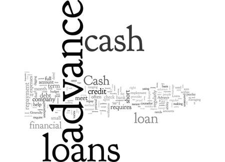 Cash Advance Loans, typography text art vector illustration