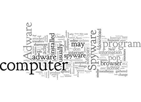 Adware And Spyware, typography text art vector illustration