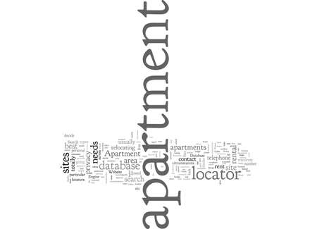Apartment, typography text art vector illustration
