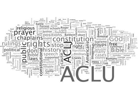 ACLU or ACLJ, typography text art vector illustration Illustration