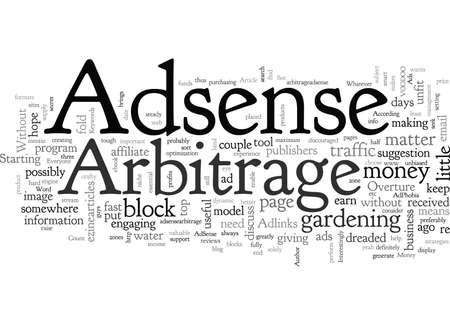 Adsense Arbitrage For Money, typography text art vector illustration