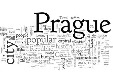 A Tourist Guide To Prague, typography text art vector illustration