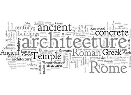 Ancient Rome Architecture, typography text art vector illustration