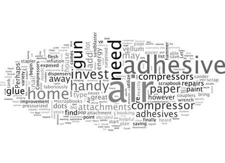 Air Compressors, typography text art vector illustration
