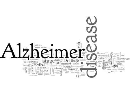 alzheimers disease, typography text art vector illustration