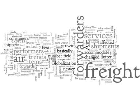 air freight, typography text art vector illustration