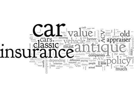 Car Insurance, typography text art vector illustration
