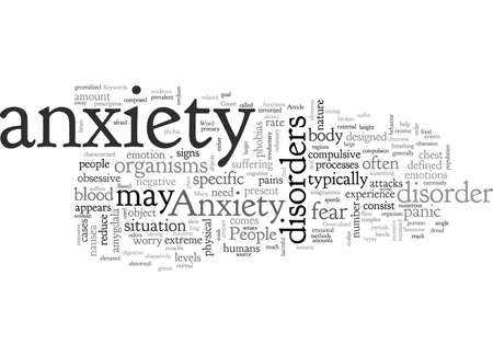 Anxiety, typography text art vector illustration