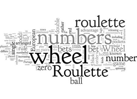 American Roulette, typography text art vector illustration Illusztráció