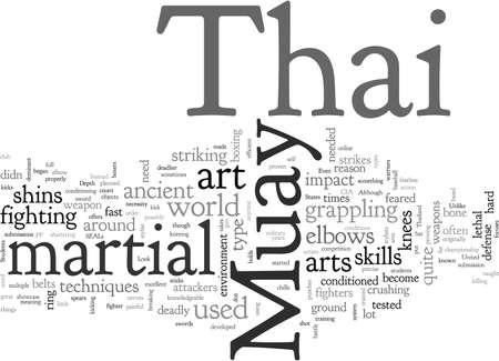 Muay Thai, typography text art vector illustration Banco de Imagens - 132519672