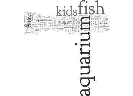 aquarium fish, typography text art vector illustration