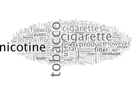Cigarettes, typography text art vector illustration
